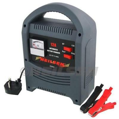 Heavy Duty 12A Amp 12V 6V Battery Charger Trickle Booster Car Vehicle 0-160Ah