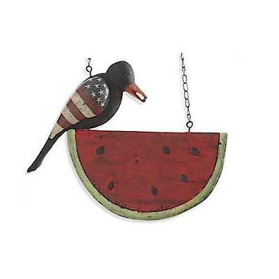 Black Americana Crow on Watermelon Arrow Replacement Sign by K&K Interiors