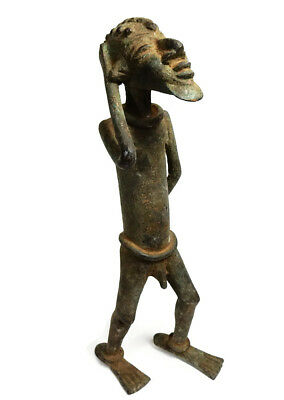 Mega Rare Museum Piece Antique African Cast Bronze Chamba Dancer sculpture