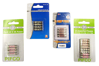 3amp 5amp 13amp Fuse Assorted Mix Universal Household Mains Plug Replacement UK