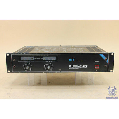 H H Electronic x200 mosfet High Performance Professional Power Amplifier 100W/CH