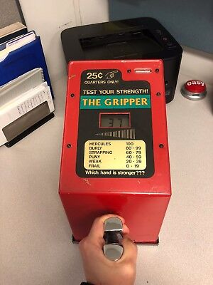 Grip Tester, Test Your Strength! The Gripper, 25 Cents, Coin Operated, Impulse!