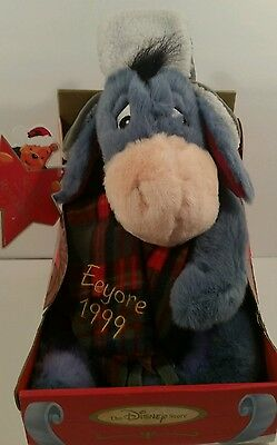 1999 Disney Store Exclusive A Time to Remember Plush Winter Eeyore