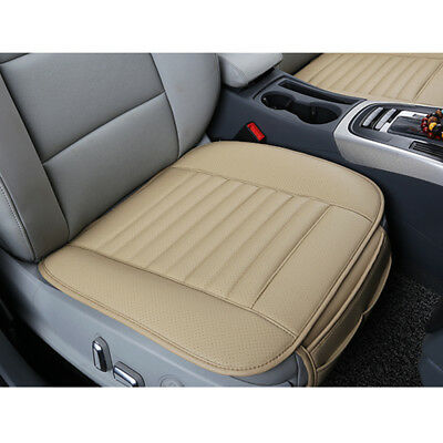 PU Leather Bamboo Charcoal Seat Cover Car Front 1pc Seat Cover All Season Set BE