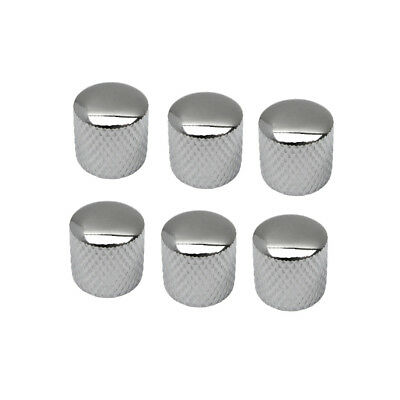 New Pack of 6pcs Metal Dome Knobs Chrome Guitar Knobs for Electric Guitar Bass