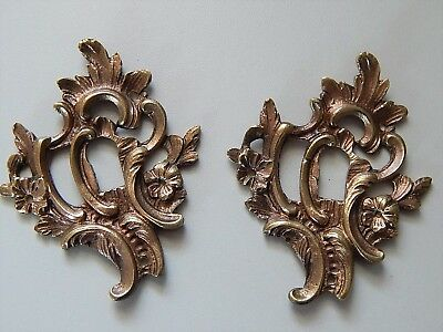Lot of 2 Antiques French Bronze Key Hole Ornate Cover,Escutcheon,Furniture
