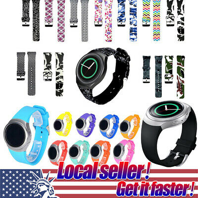 For Samsung Galaxy Gear S2 SM-R720 R730 Replacement Silicone Watch Band Strap e0