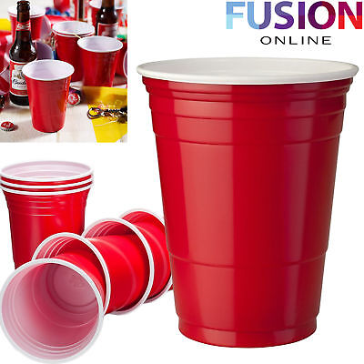 Amercian Plastic Red Party Cup Cups Beer Pong Disposable Birthday Wedding Party