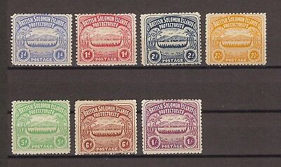 BRITISH SOLOMON ISLANDS 1907 SG 1/7 MINT Cat £275