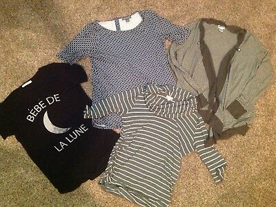 Maternity Lot- M/ L Sizes Pea In The Pod Motherhood Maternity Tops Cardigan Tees
