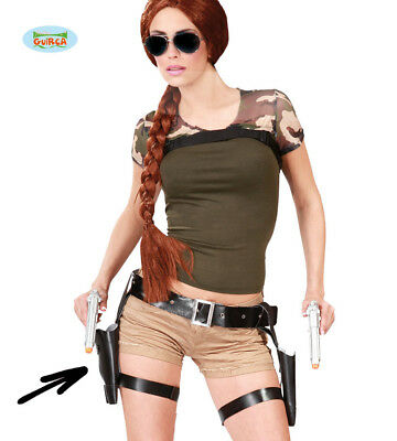 Tomb Raider Style Thigh Holster Set and Guns