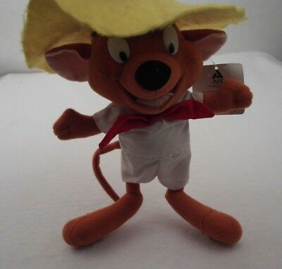 Vintage 1997 Speedy Gonzales Looney Tunes Plush Stuffed Animal