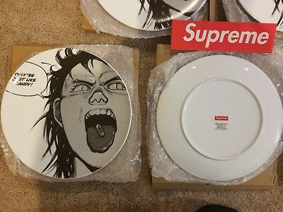 Supreme x Akira Just Like Candy Pill Plate Ceramic FW17 IN HAND NEW NIB