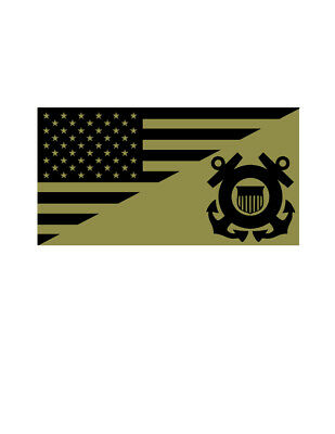 United States Coast Guard Vinyl Military Flag DECAL Sticker MADE IN THE USA F581
