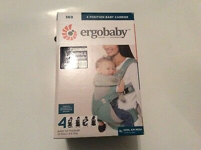 Ergobaby 360 4 Position Ergonomic Baby Carrier in Icy Mint Brand New