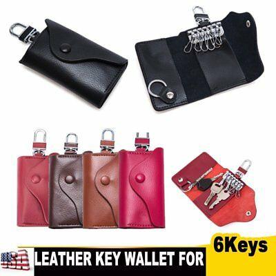 SOFT MEN WOMEN Leather Keys Holder Wallet Bag Purse Case Chain Key Ring  Pouch US -  8.99  ff4bd8ca6f