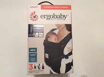 Ergobaby Adapt 3 Position Baby Carrier In Black Brand New