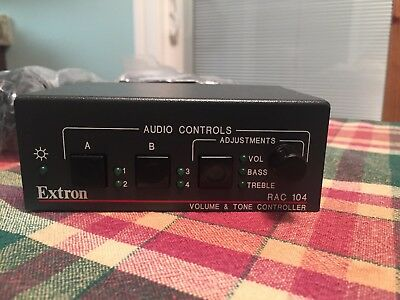 Extron RAC 104 Serial Volume and Tone Controller with Power Supply