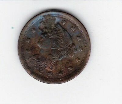 Scarce Date  1852 Large Usa Penny-- Nice Color And Detail Damage Free Shipping