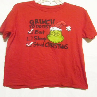 DR SUESS THE GRINCH Graphic Christmas T Eat Sleep Steal Christmas Adult Large