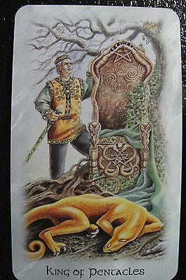 King of Pentacles Celtic Dragon Tarot Single Replacement Card Excellent