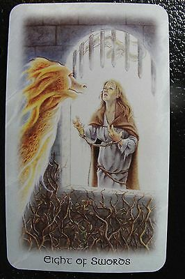 Eight of Swords The Celtic Dragon Tarot Single Replacement Card Excellent