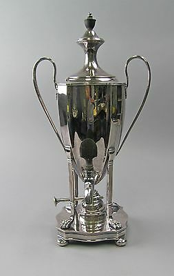 Beautiful Empire English Silver Samovar  Silverplate