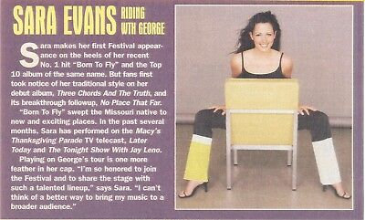 Sara Evans, Country Music Star in 2001 Magazine Print Clipping. Free WW S/H