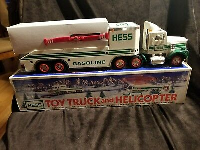 1995 Hess Toy Truck And Helicopter Euc In Original Box