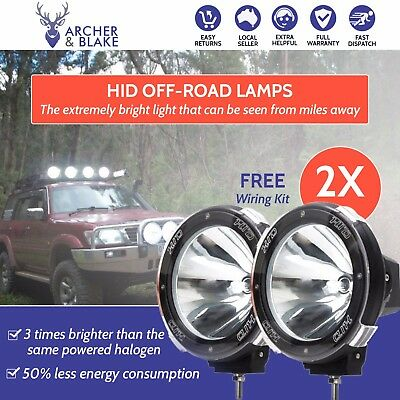 2 x 7INCH 100W DRIVING LIGHTS HID XENON SPOT 4 Wheel Drive Lamp offroad 4wd work