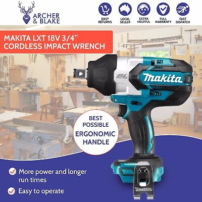 """Makita 18V LXT 3/4"""" Impact Wrench Skin Only - DTW1001Z - 100% GENUINE"""
