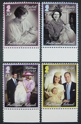 Falkland 2014 Royalty Taufen William Kate QE II Royalty Lady Diana MNH