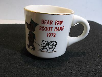 Bsa Boy Scouts Coffee Mug Cup Bear Paw Scout Camp 1972