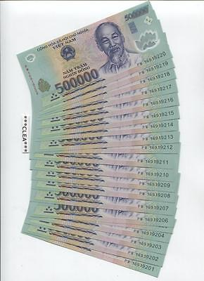 1 MILLION NEW CRISP VIETNAM DONG UNCIRCULATED CONSECUTIVE USA SELLER 2 x 500,000