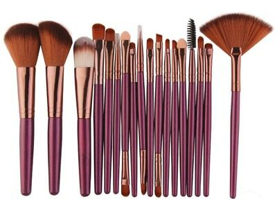 18Pc Professional Make Up Brush Set Foundation Kabuki Makeup Brushes Green&Black