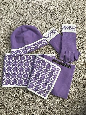 Coach Scarf, Hat, Gloves Set