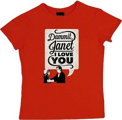 DAMMIT JANET I LOVE YOU T-Shirt rocky horror picture show poster Ladies girls