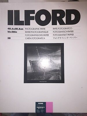 Ilford Multigrade IV RC DeLuxe Paper (Glossy, 16x20, 50 Sheets) Free Shipping WW