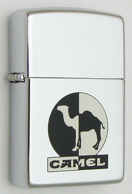 Camel Zippo Lighter 1994 Cz25 High Polished Chrome Day And Night
