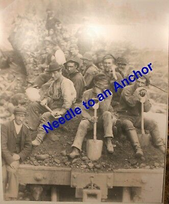 BELL ISLAND WABANA NEWFOUNDLAND MINERS REAL PHOTO - CIRCA EARLY 1900'S - lot 15