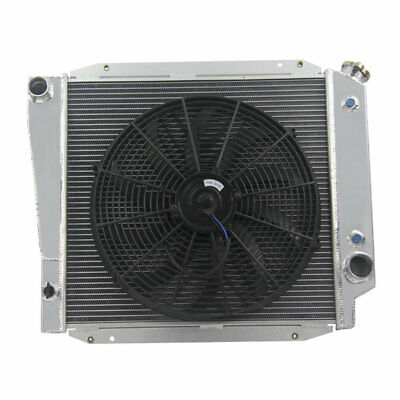 3Row Alloy Radiator + 16''FAN Fit 66-77 Ford Bronco L6 V8 302 2.8 3.3 4.7 5.0