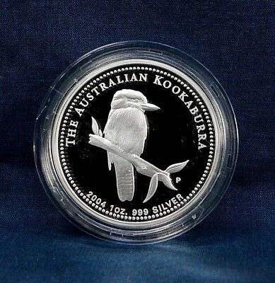 2004 Australia Kookaburra 1 Oz. Proof - With Case And Coa