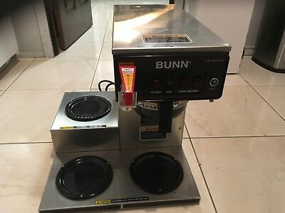 Bunn CWTF15 Commercial Coffee Brewer . 3 Warmers hot water dispense NO Reserve