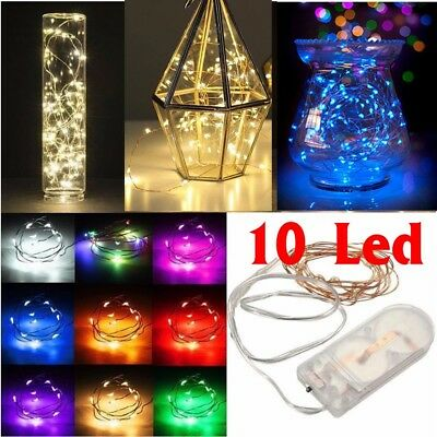 1/2/3/4/5/10m String Fairy Light Battery Operated Xmas Lights Party 40/50/100LED
