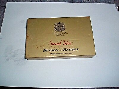Vintage Tobacco Tin Benson And Hedges 50 X Cigarettes England Empty