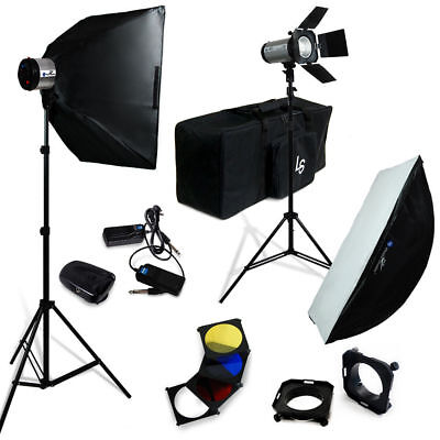 Lusana Studio 600W Photography Softbox Lighting Flash Strobe Stand Carry Bag
