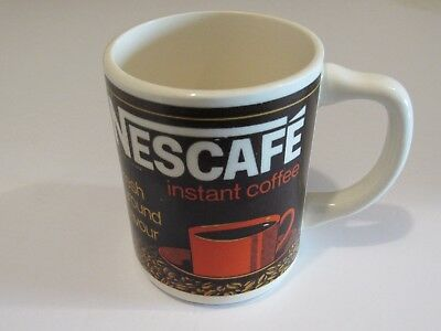 Vintage Nescafe Instant Coffee Cup Mug Made in USA Bilingual Kitchen Ware