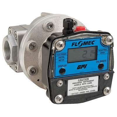 Oval Gear 1 FNPT Electronic Flowmeter, Aluminum, 2.6 to 40 gpm