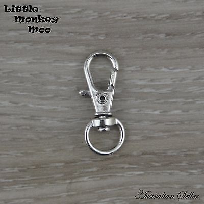 Silver Tone Swivel Key Ring Chain Keyring Beads Lobster Clasp 5, 10, 20, 50 pack