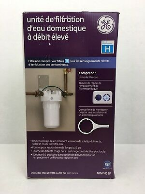 GE GXWH35F High Flow Whole House Water Filtration System With Filter Wrench NEW